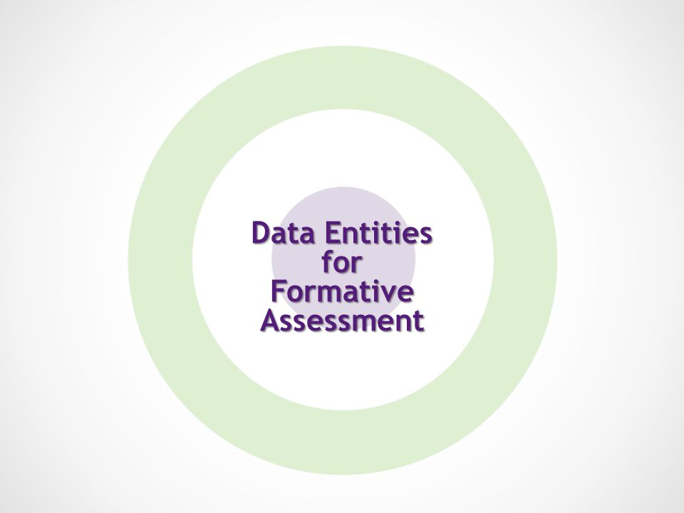 Data Entities for FormativeAssessment