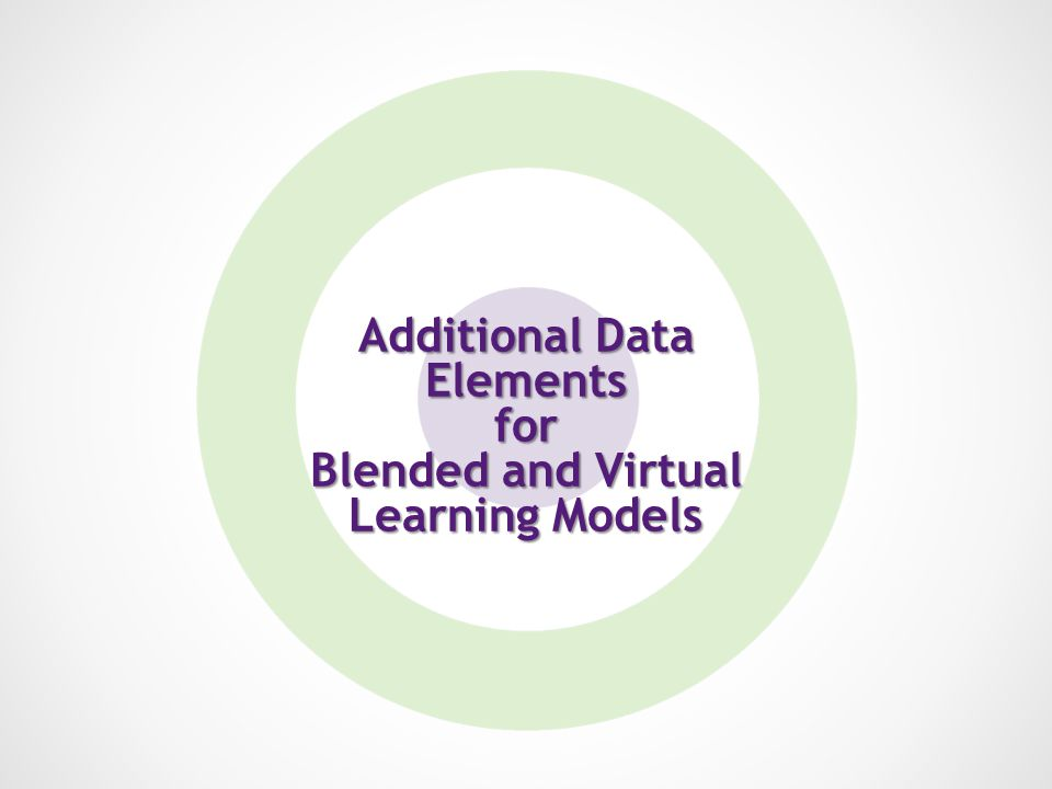 Additional Data Elements for Blended and Virtual Learning Models