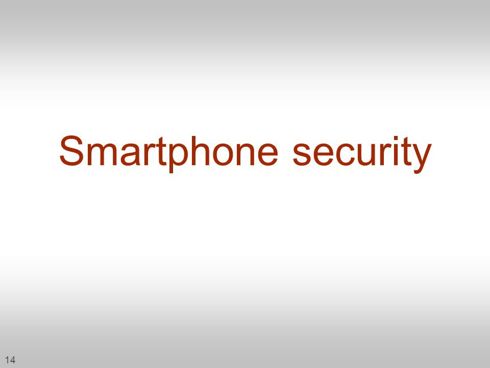 14 Smartphone security