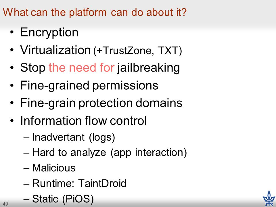 49 What can the platform can do about it.