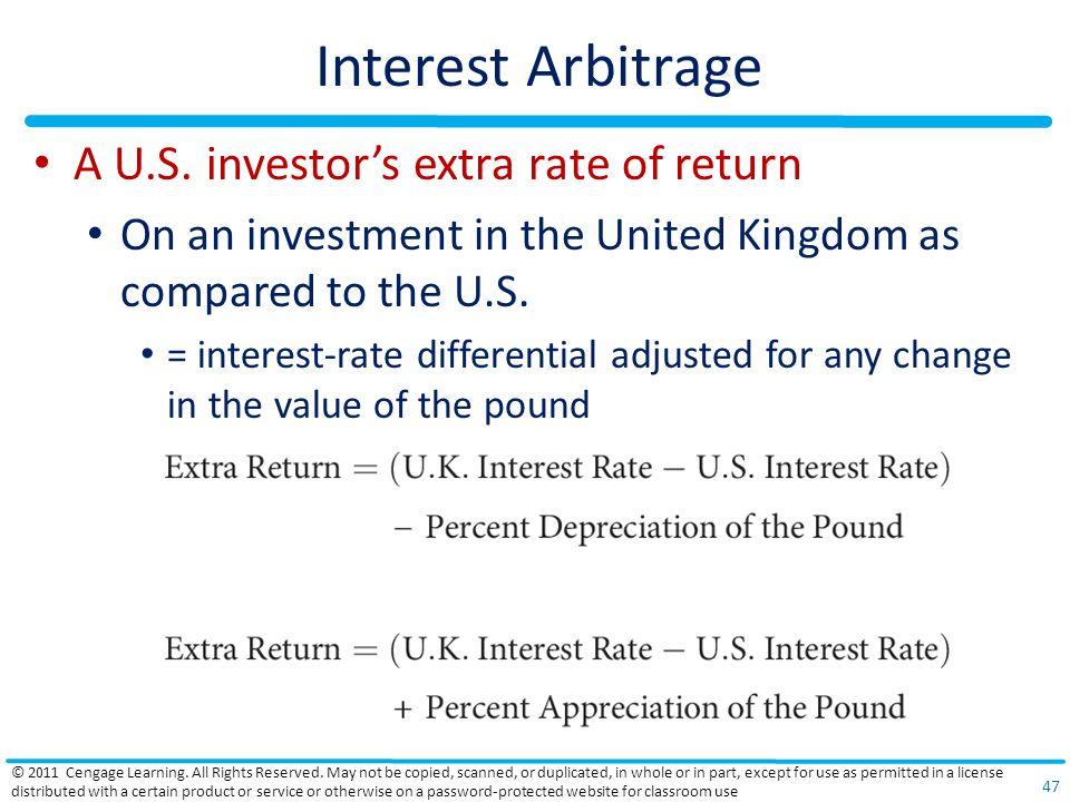 Interest Arbitrage A U.S.