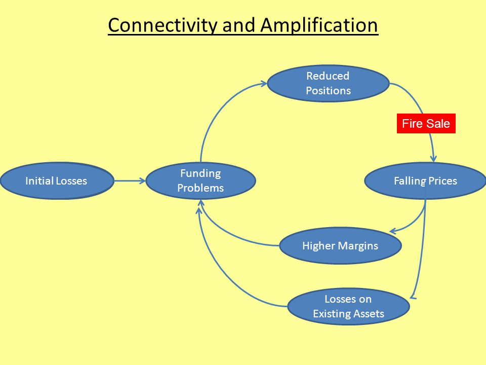 Connectivity and Amplification Reduced Positions Initial Losses Funding Problems Higher Margins Losses on Existing Assets Falling Prices Fire Sale