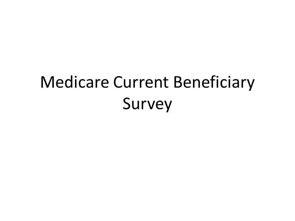 Medicare Current Beneficiary Survey