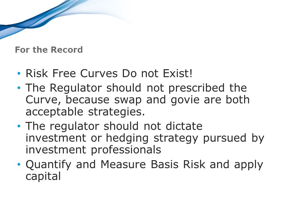 For the Record Risk Free Curves Do not Exist.