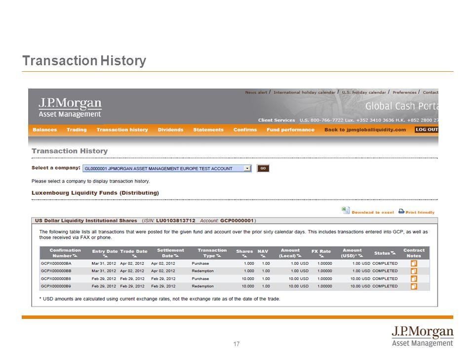 Transaction History 17