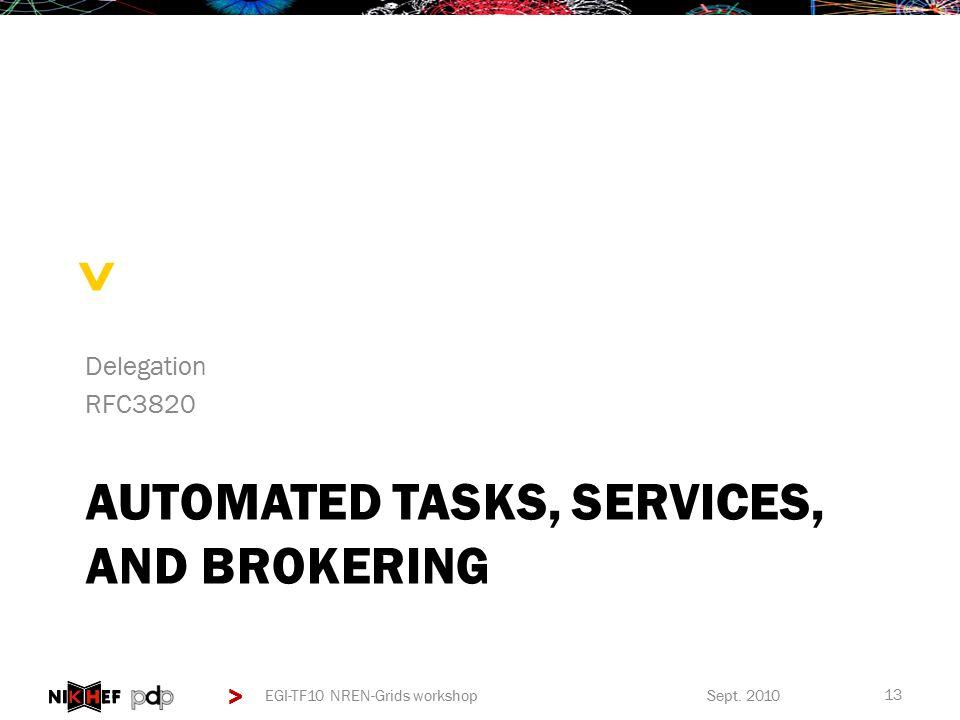 > > AUTOMATED TASKS, SERVICES, AND BROKERING Delegation RFC3820 Sept.