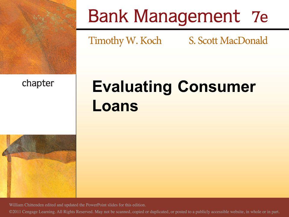 Evaluating Consumer Loans