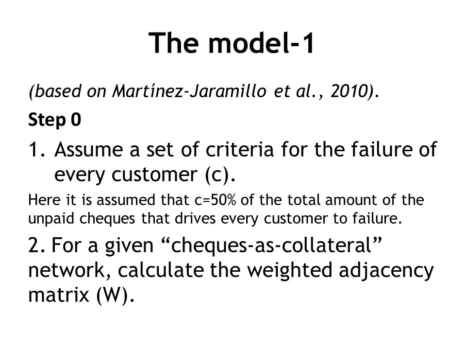 The model-1 (based on Martínez-Jaramillo et al., 2010).