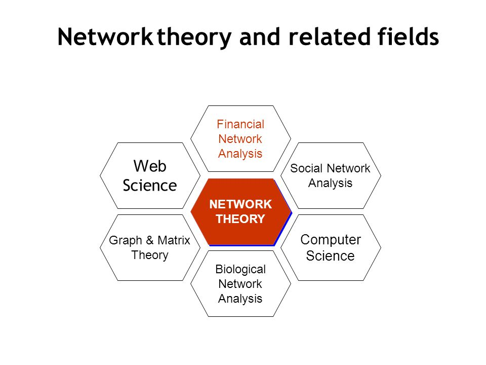 NETWORK THEORY Financial Network Analysis Biological Network Analysis Graph & Matrix Theory Web Science Social Network Analysis Computer Science Network theory and related fields