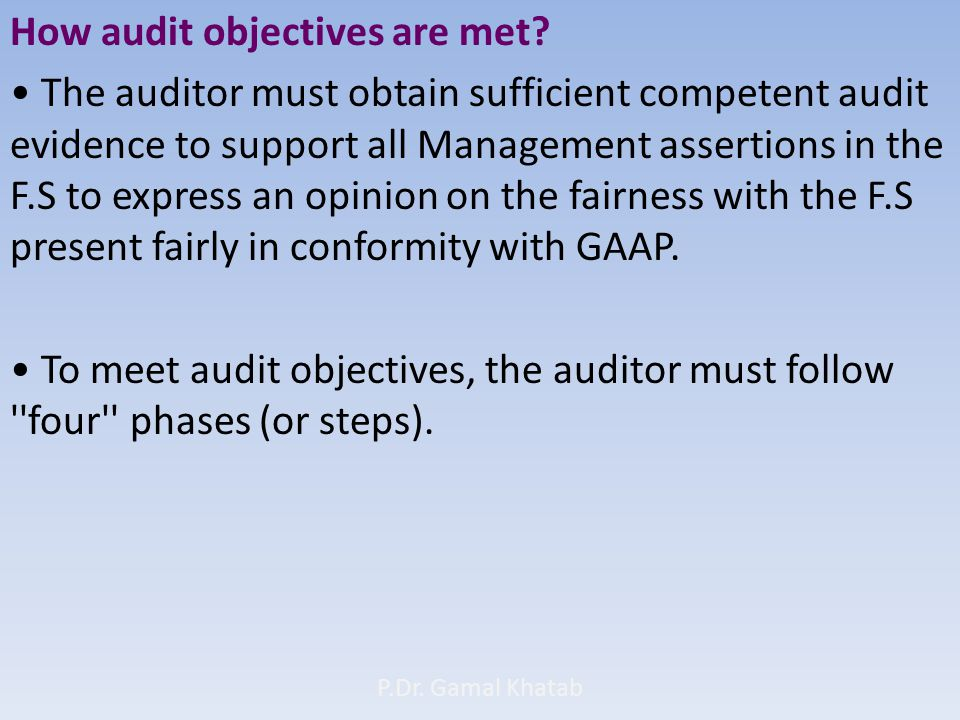 How audit objectives are met.