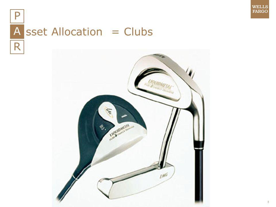 6 P A R sset Allocation = Clubs