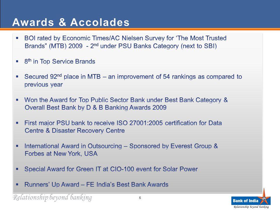 Relationship beyond banking Awards & AccoladesAwards & Accolades 5