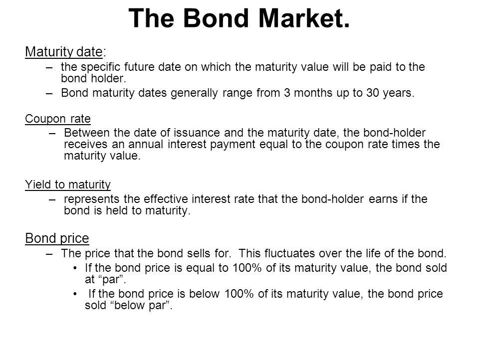 The Bond Market.