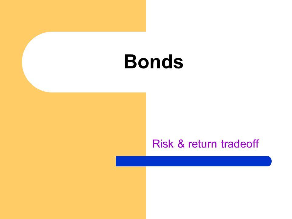 Risk & return tradeoff Bonds