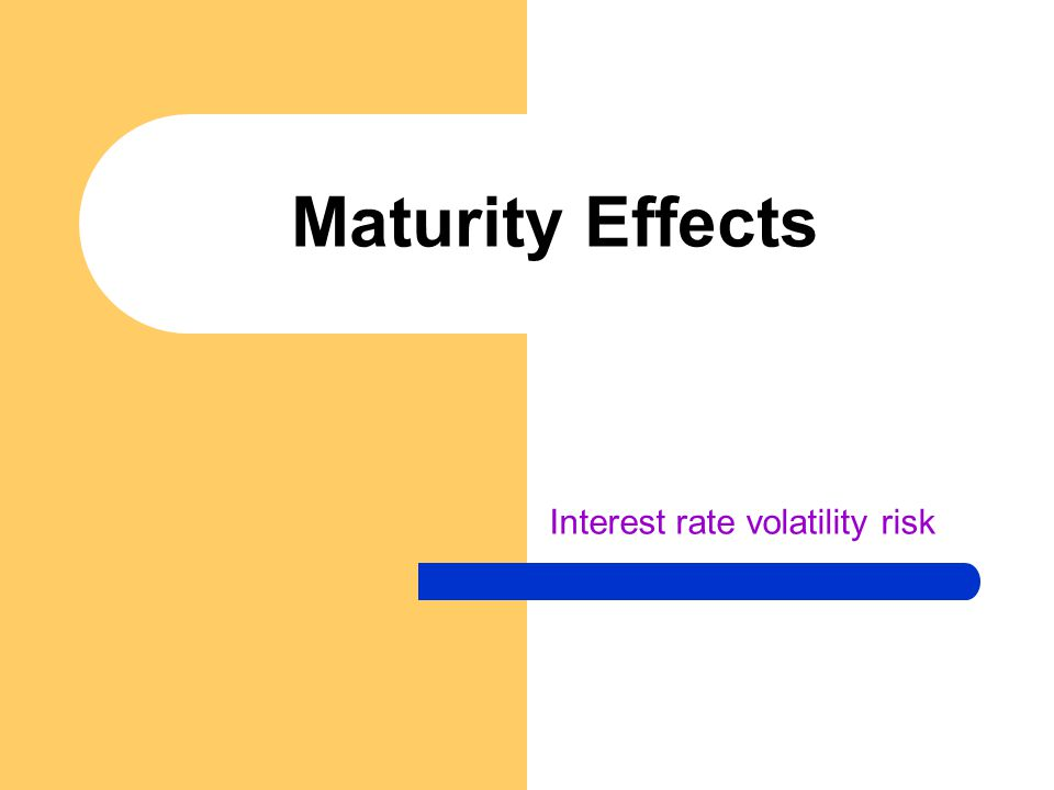 Interest rate volatility risk Maturity Effects