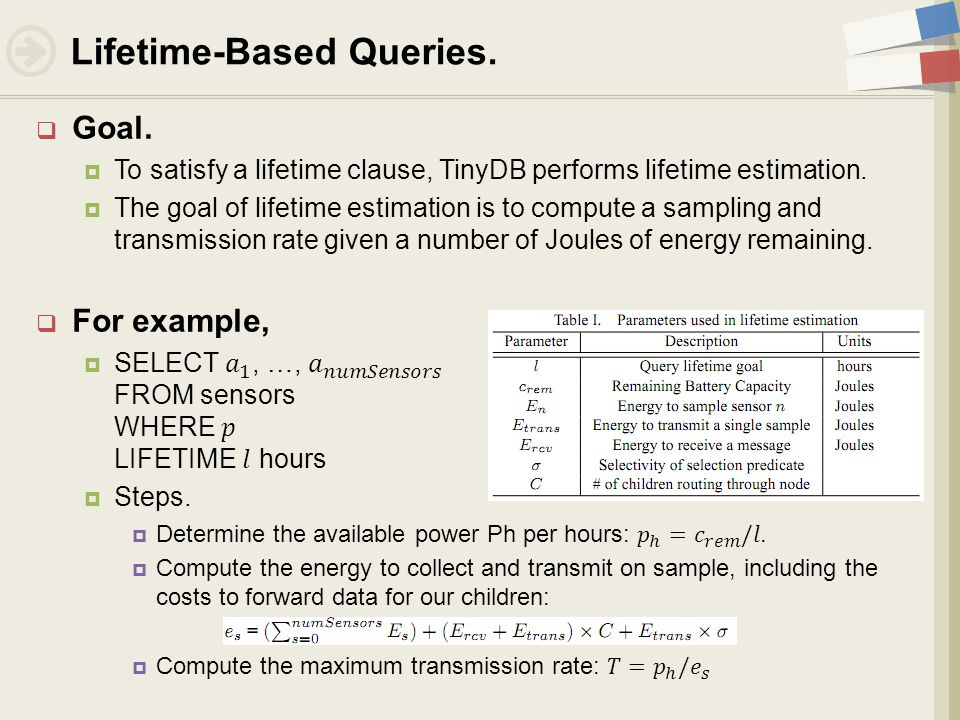 Lifetime-Based Queries.