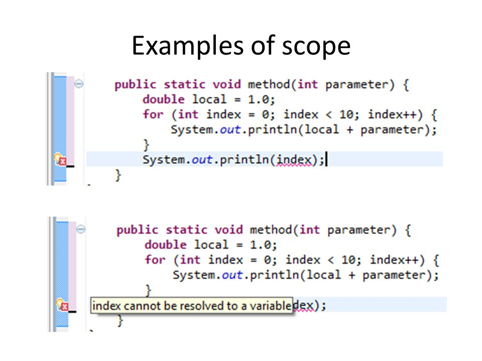 Examples of scope
