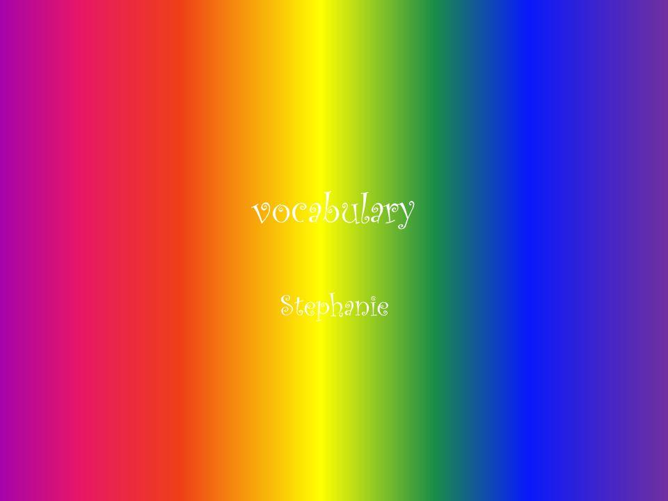 vocabulary Stephanie