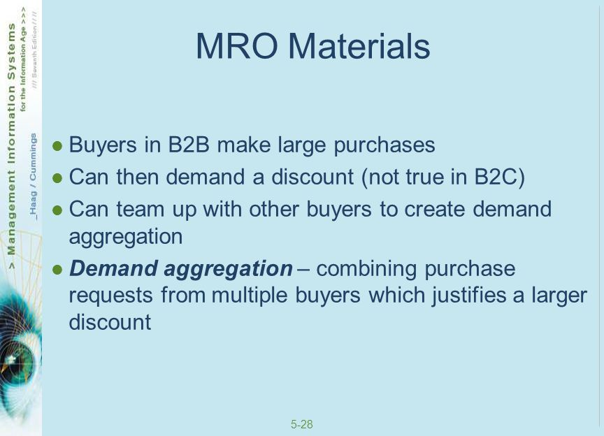 5-29 Direct Materials Direct materials – materials that are used in production in a manufacturing company or are placed on the shelf for sale in retail environments Relate directly to a company's primary business activities Quality, quantity, and delivery timing are important