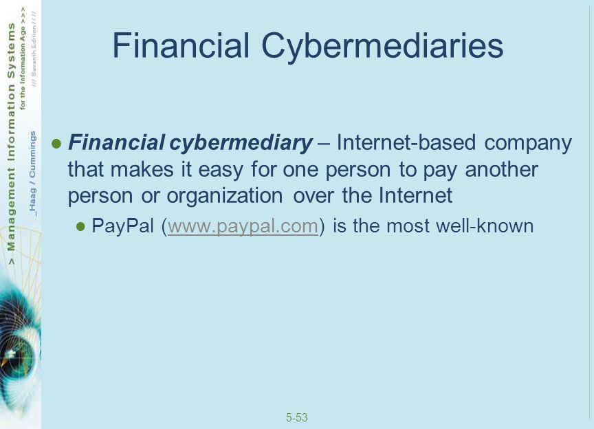 5-54 Financial Cybermediaries