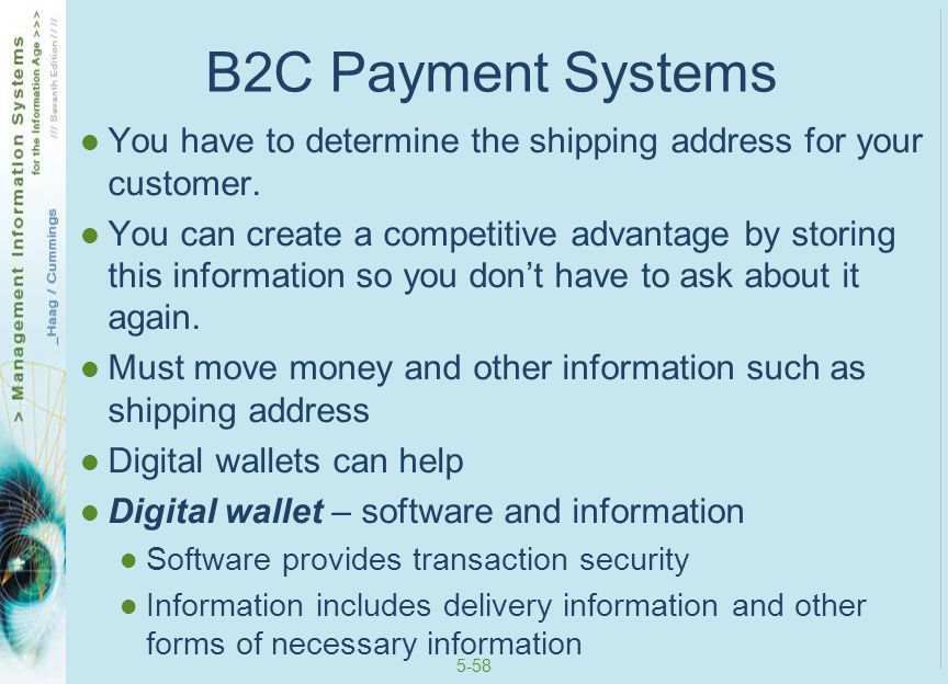 5-59 Digital Wallets Can be… Client-side – you create this digital wallet and keep it on your computer.