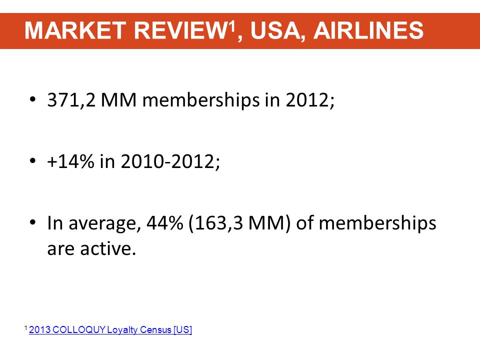 371,2 MM memberships in 2012; +14% in 2010-2012; In average, 44% (163,3 MM) of memberships are active.