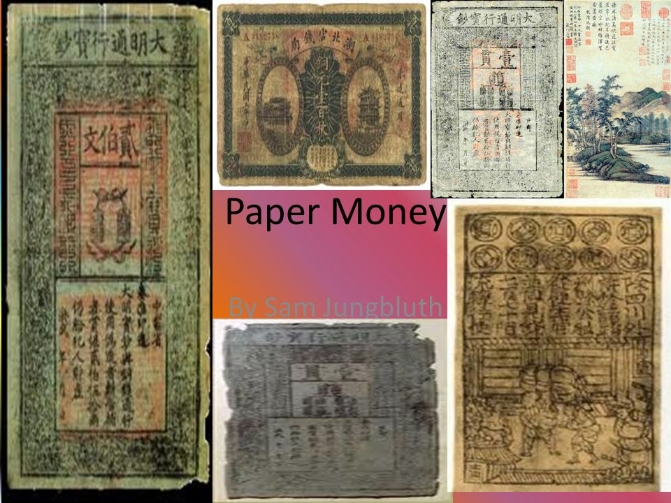 Paper Money By Sam Jungbluth