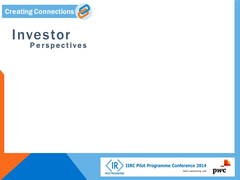 Held in partnership with Creating Connections Investor Perspectives