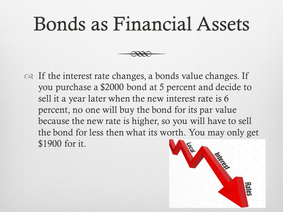 Bonds as Financial AssetsBonds as Financial Assets  Bonds are also rated.
