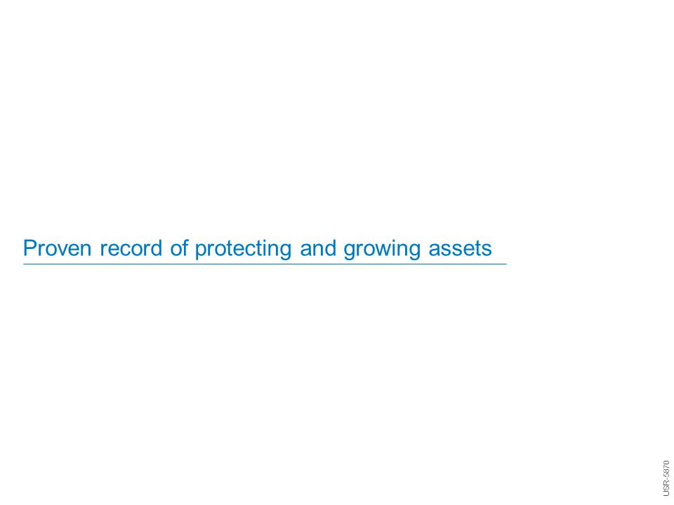 Proven record of protecting and growing assets USR-5870