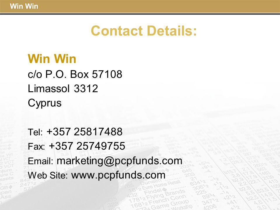 Contact Details: Win c/o P.O.