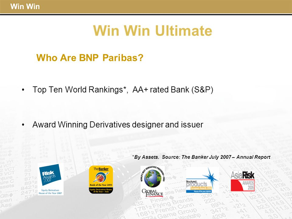 Win Win Ultimate Who Are BNP Paribas.