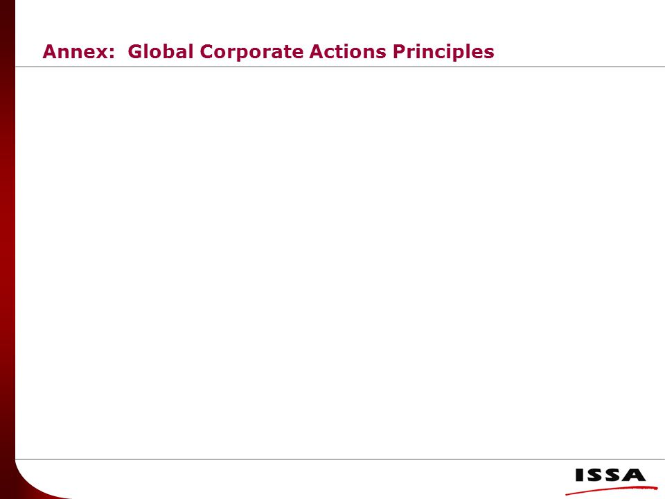 Annex: Global Corporate Actions Principles