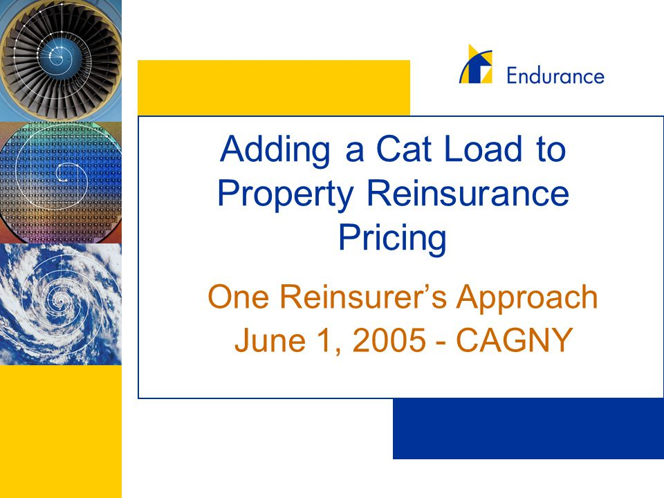Adding a Cat Load to Property Reinsurance Pricing One Reinsurer's Approach June 1, 2005 - CAGNY