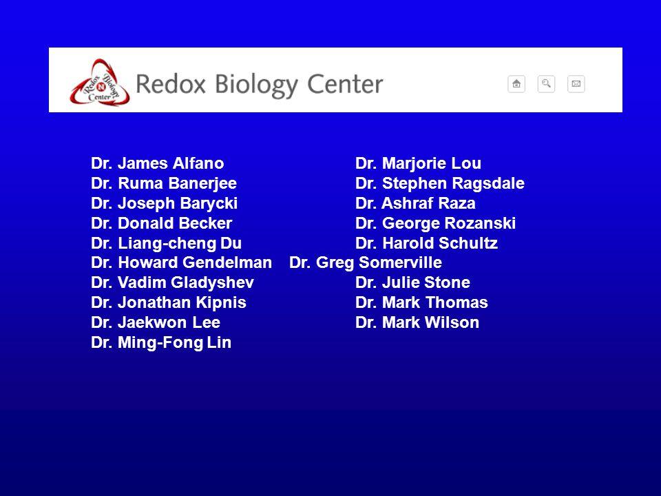 Dr. James Alfano Dr. Marjorie Lou Dr. Ruma Banerjee Dr.