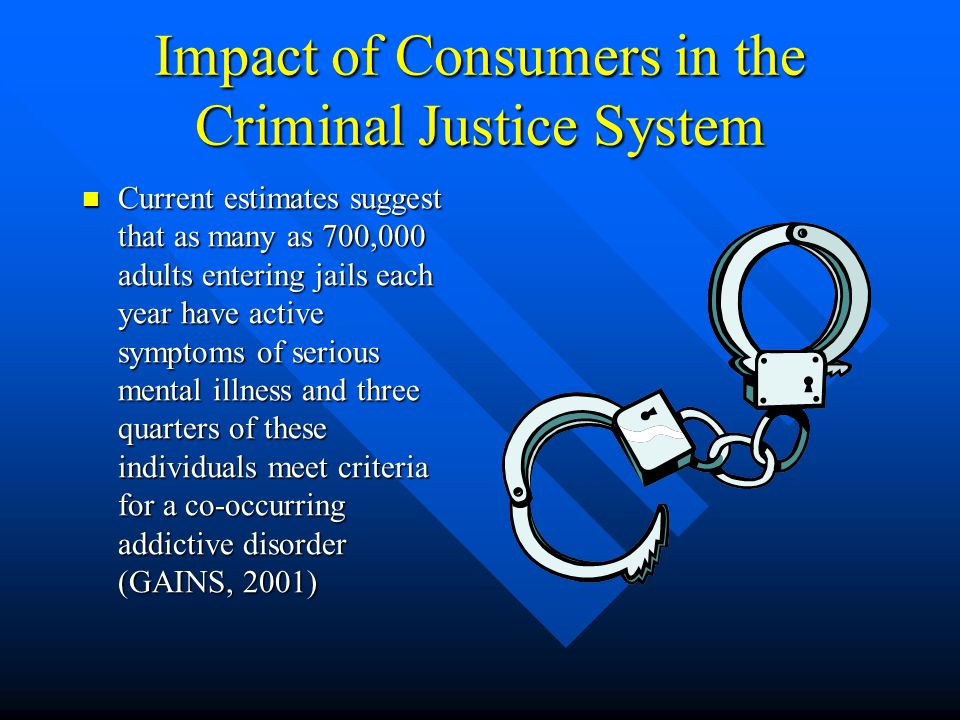 General Involvement in the CJ System In 2005, over 7 million people were on probation, in jail or prison, or on parole at yearend – 3.2% of all U.S.