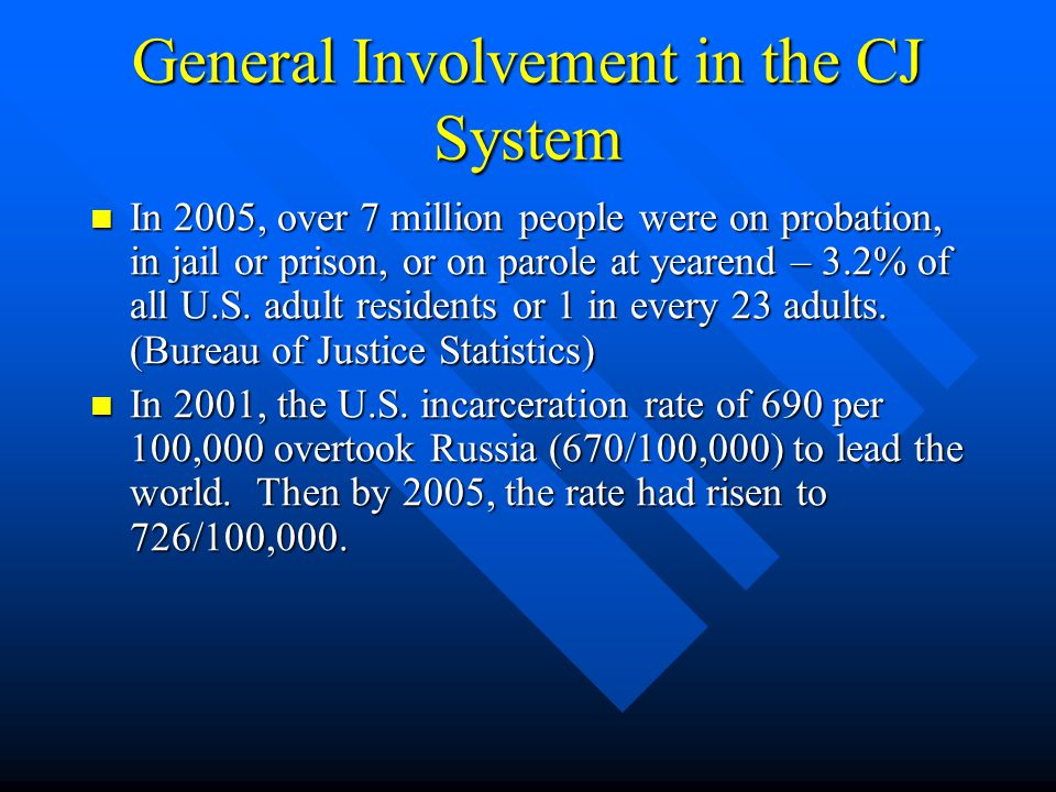 More Basics of the Sequential Intercept Model People with mental disorders should not penetrate the criminal justice system at a greater frequency than people in the same community without mental disorders.
