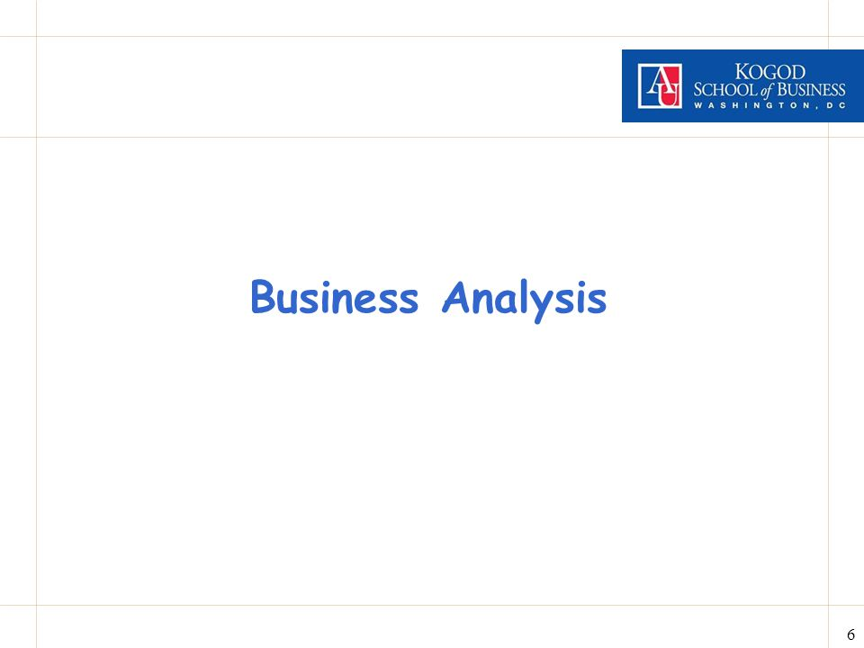 6 Business Analysis