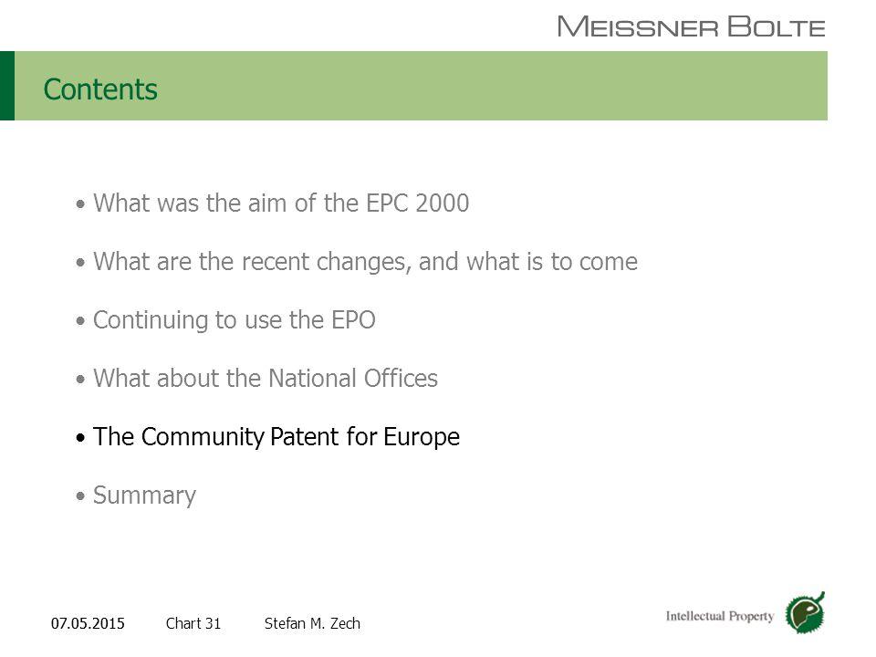 Chart 3107.05.2015 Partners of Meissner Bolte Stefan M.