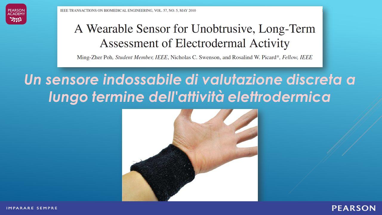 Un sensore indossabile di valutazione discreta a lungo termine dell attività elettrodermica