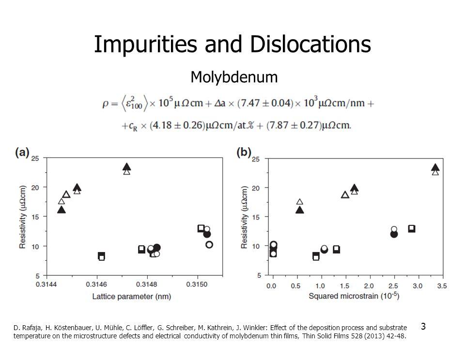 Impurities and Dislocations 3 Molybdenum D. Rafaja, H.