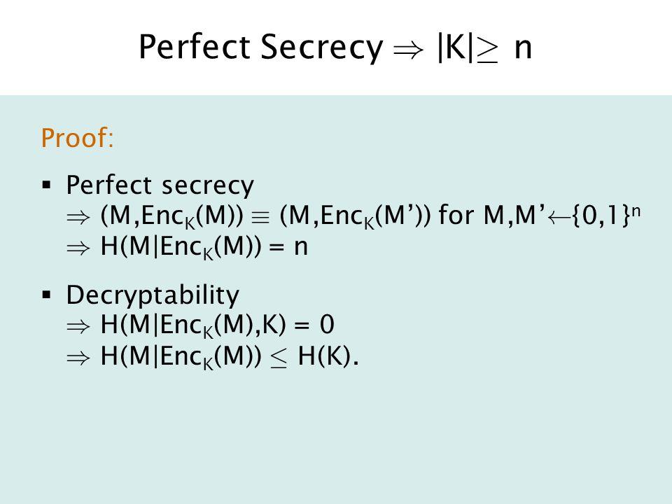 Inaccessible Entropy Idea: A generator G has inaccessible entropy if H(G's outputs from an observer's perspective) > H(G * 's outputs from G * 's perspective) Real Entropy Accessible Entropy