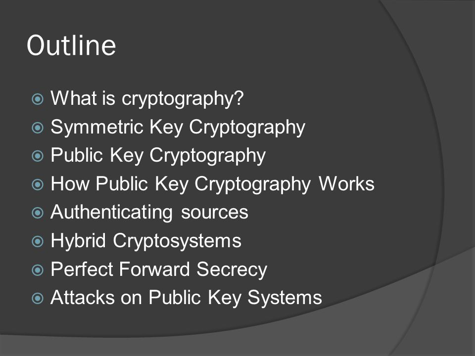 What is Cryptography. The securing of communications between parties.