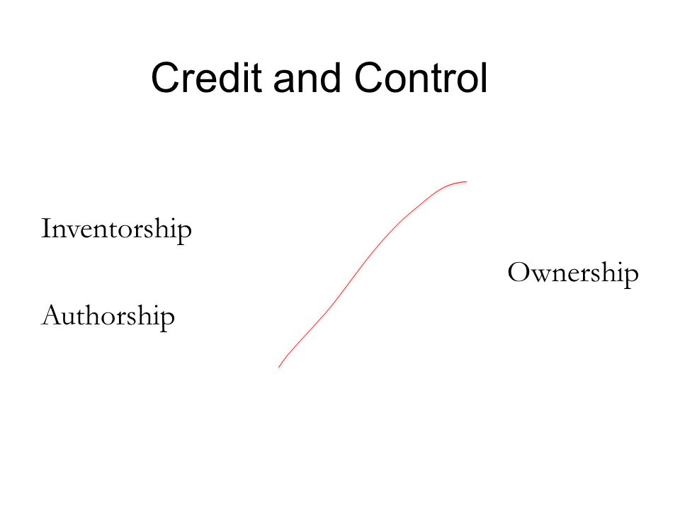 Credit and Control Inventorship Ownership Authorship