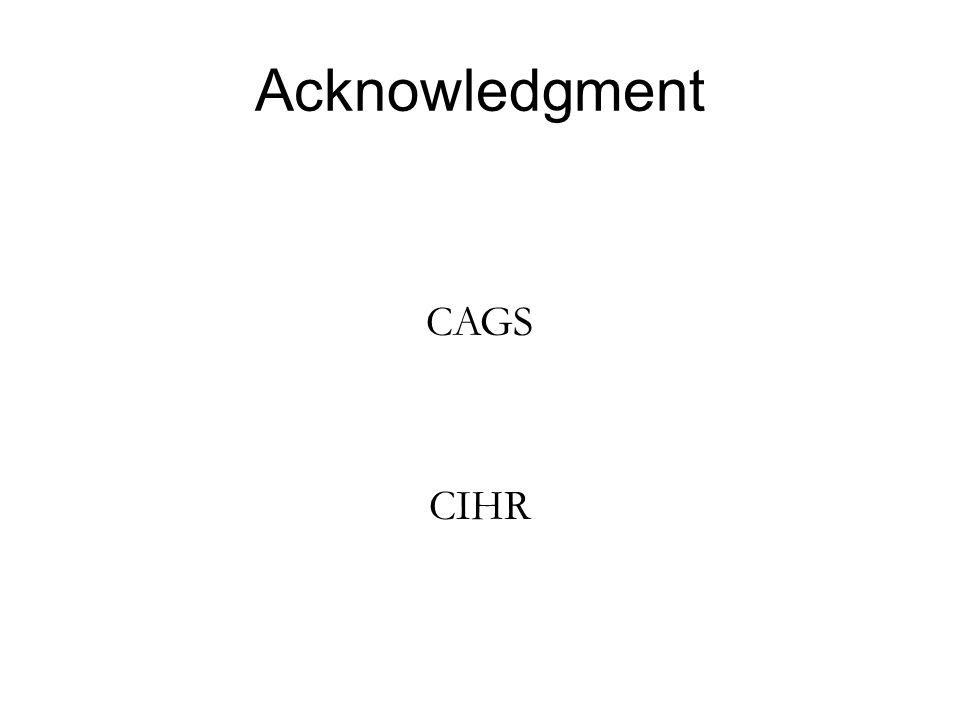 Acknowledgment CAGS CIHR