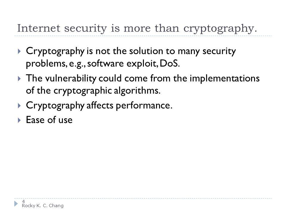 Security involves 5 Rocky K.C.