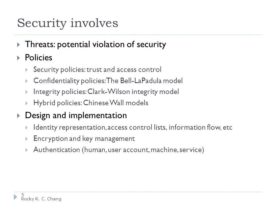 Security involves 6 Rocky K.C.