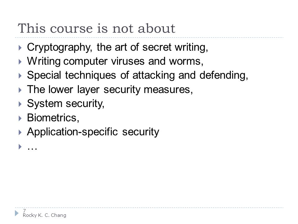 Public key (asymmetric) cryptography 18 Rocky K.C.