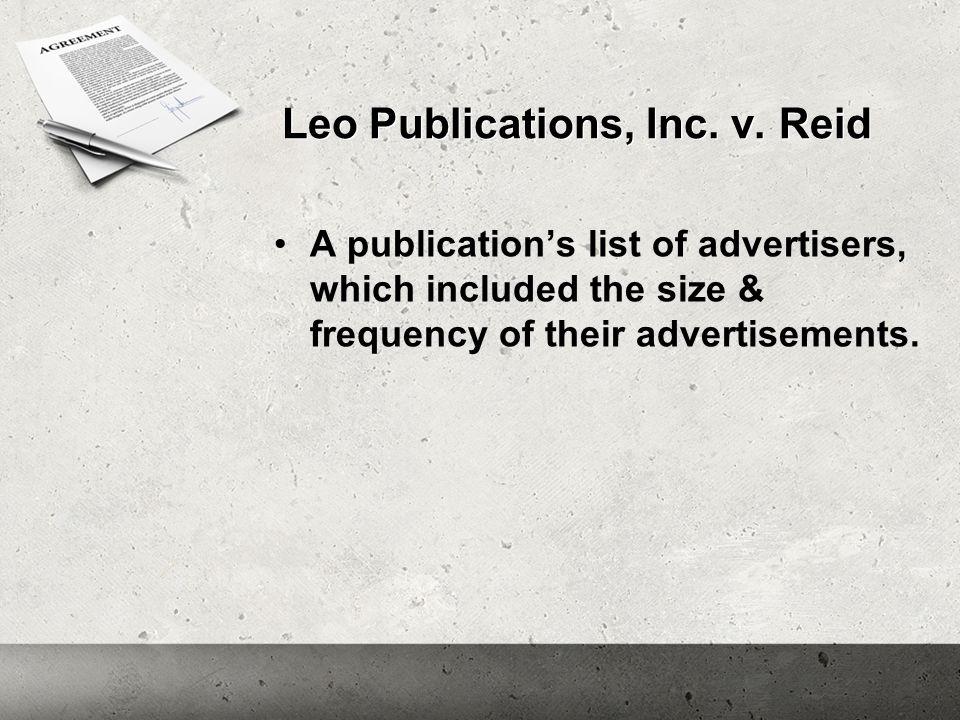 Leo Publications, Inc. v.