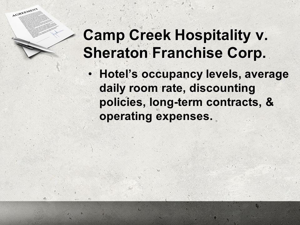 Camp Creek Hospitality v. Sheraton Franchise Corp.